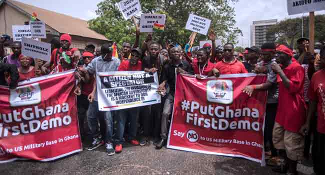 Ghana Protestors Rally Against United States' Military Deal
