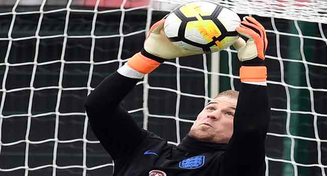 England Goalkeeper, Hart Battles To Retain Number One Position