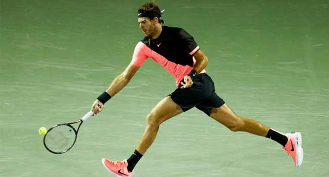 Del Potro Advances At Miami With Gritty Win Over Raonic
