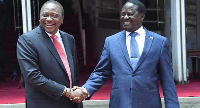 Kenyatta And Odinga Meet, Vow To Resolve Differences