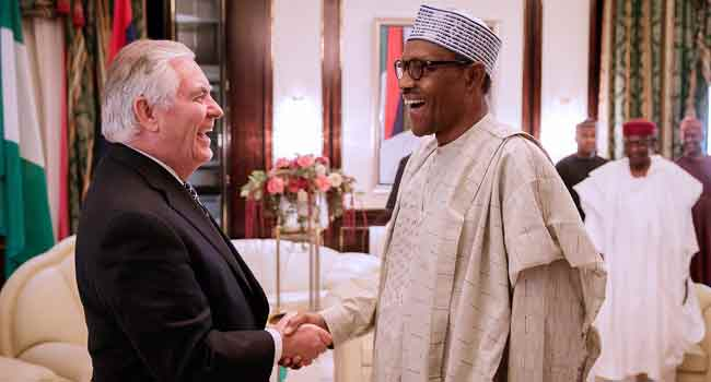 President Buhari Meets With Rex Tillerson