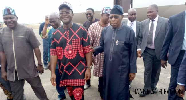 Former President Obasanjo Pays Condolence Visit To Benue