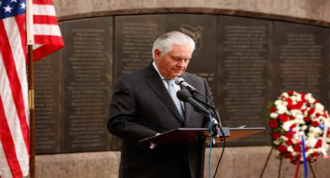 U.S Secretary Of States, Tillerson Expected In Abuja Today