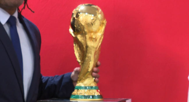 President Buhari receives FIFA World Cup trophy in Abuja
