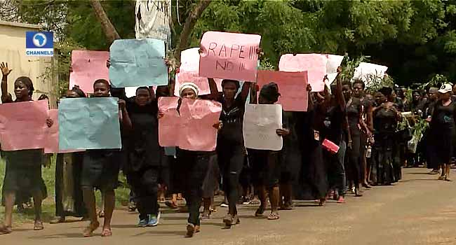 Community Protests After Gang Rapes Woman In Front Of Husband