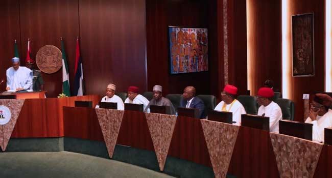Buhari, Emefiele, Dambazau At Food Security Council Meeting