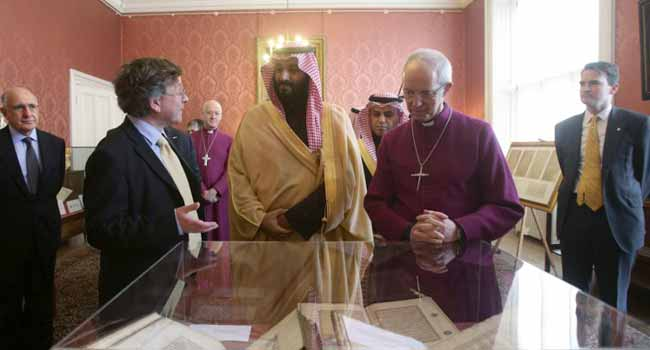 Saudi Crown Prince Committed To Interfaith Dialogue As He Meets Canterbury's Archbishop