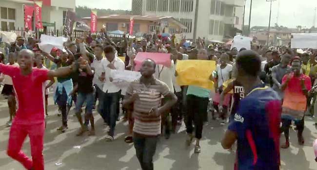 Tuition Hike: AAUA Students' Protest Enter Day Two