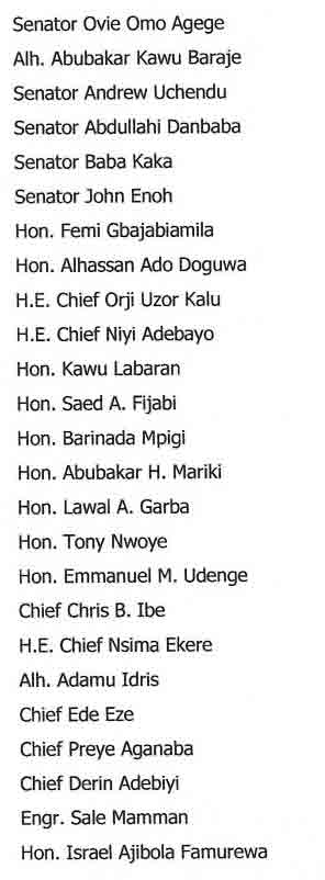 APC releases list of its National convention committee members