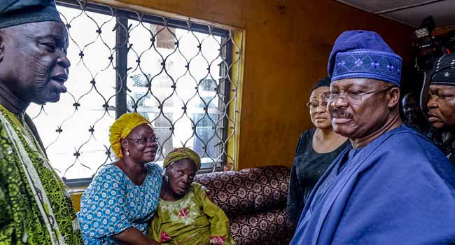 Oyo speaker's death: Ajimobi receives Ibadan obas on condolence visit