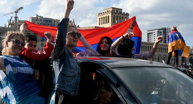 Amid Protests, Armenia's Prime Minister And Former President Will Resign