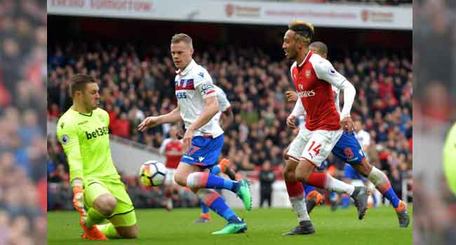 Aubameyang Hands Arsenal Flattering Victory Over Stoke