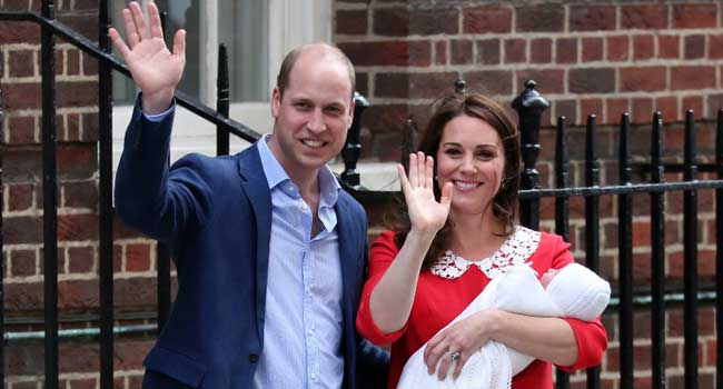 Britain's Prince William And Kate Welcome New Son