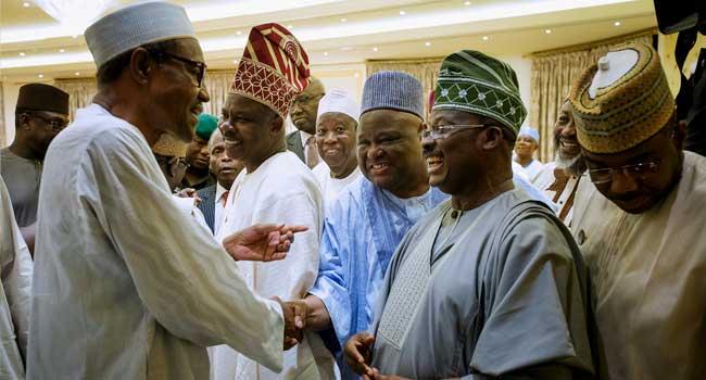 President Buhari Meets With APC Governors