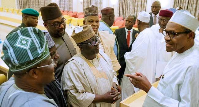 Buhari, Osinbajo Meet With APC Governors Behind Closed Doors
