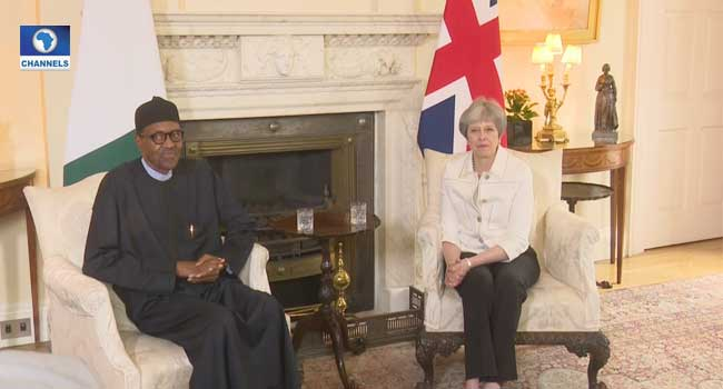 President Buhari Holds Talks With Theresa May