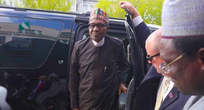 Buhari Arrives Washington DC, To Hold Talks With Trump