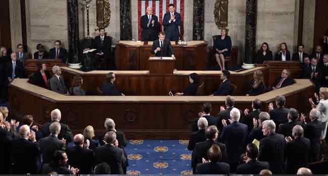 French President, Macron Addresses U.S. Congress In Final Tour