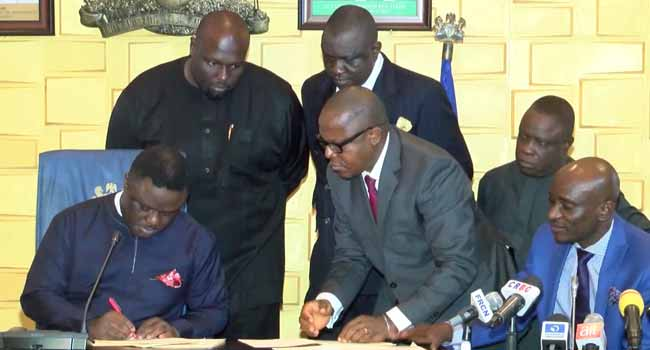 Cross Rivers Governor Teary As He Signs Historic N1.3trn Budget