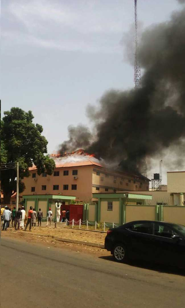 Fire Guts Kaduna Independent Electoral Commission Headquarters
