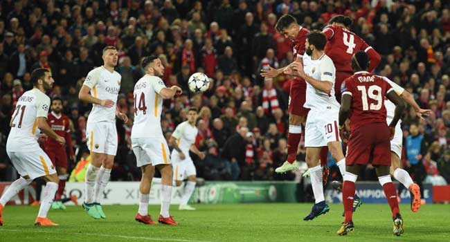 Liverpool dazzle but give Roma small chance in CL semifinal second leg