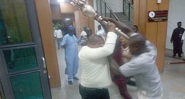 'Big Shame': Nigerians React To Senate Invasion, Mace Theft