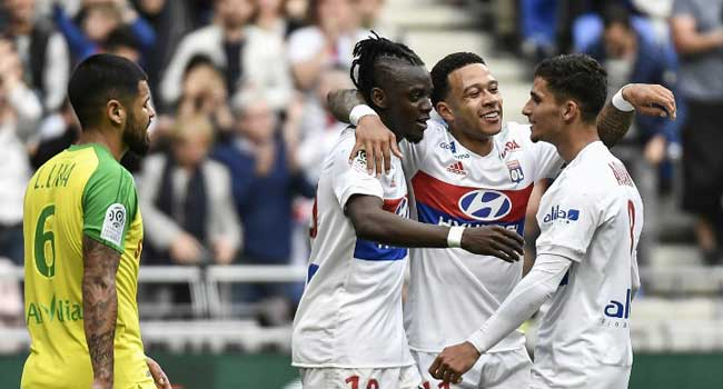 Ligue 1: Depay Stars As Lyon Beat Nantes To Go Second