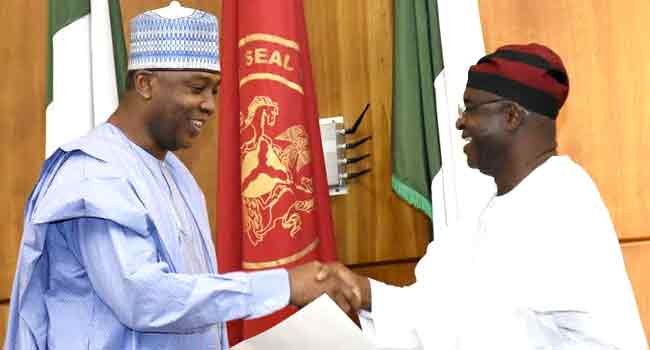 Saraki Congratulates David Mark At 70