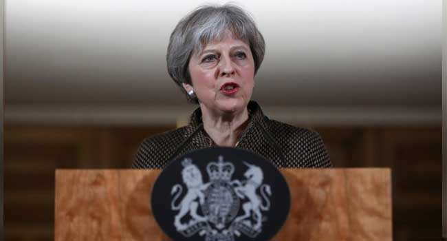 Humanitarian grounds justify Syria attack, says Theresa May