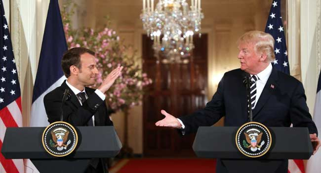 Trump, Macron Call For 'New' Nuclear Deal With Iran