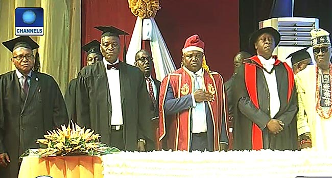 Ambode, Ogundipe, Others Attend UNILAG Convocation Lecture