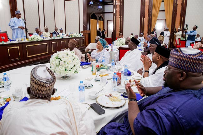 President Buhari Breaks Fast With Dangote, Members Of Nigeria's Business Community