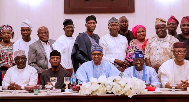 Buhari Dines With Tinubu, Oyegun, Other APC Chieftains