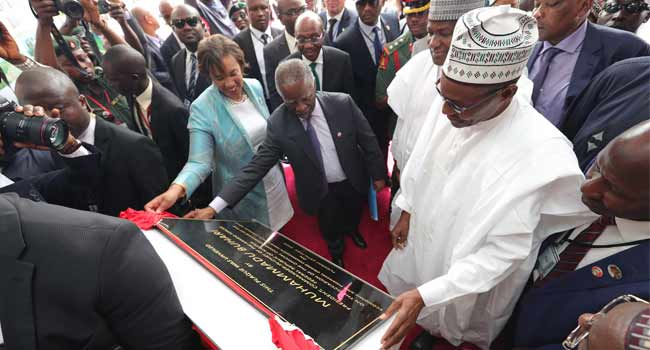 Buhari Inaugurates New EFCC Headquaters In Abuja