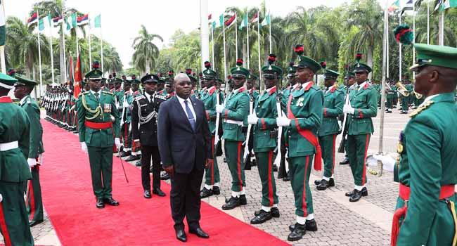 President Buhari Receives New Ambassadors Of The Gambia, Congo