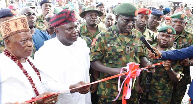Buratai Inaugurates Nigerian Army Operating Base In Epe