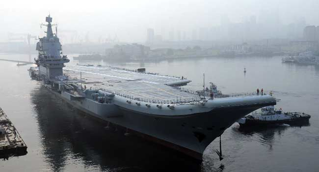 First China-Made Aircraft Carrier Starts Sea Trials