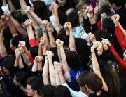 'Let's climb!' Female Stars Call For Equal Pay In Cannes Protest