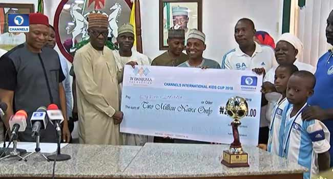 Governor Ahmed Donates N2m To Winners Of Channels Kids Cup
