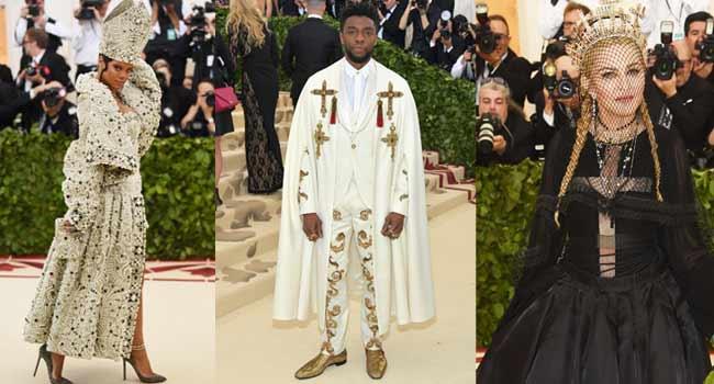 Rihanna, Boseman, Others Get 'Holy' At New York Met Gala