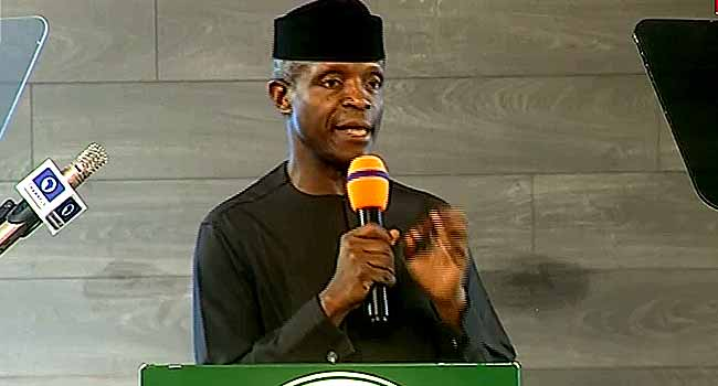 'All Of Us Deserve Some Accolades', Osinbajo Praises Nigerian Youths