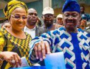Oyo LG Polls: Ajimobi, Wife Vote In Oluyole