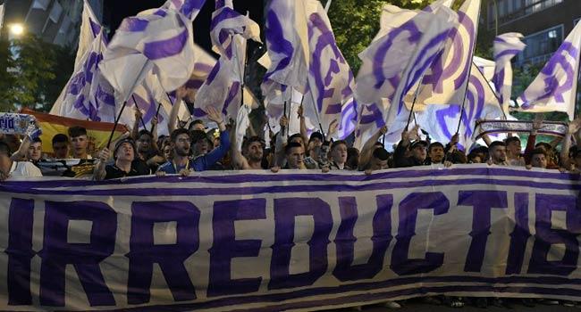 Real Fans Rejoice At Bernabeu After European Success