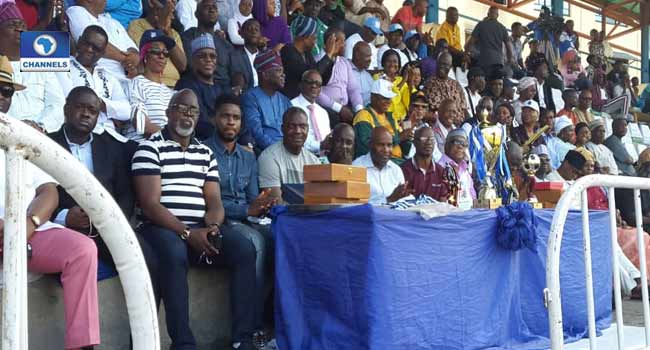 Pinnick, Former Eagles Coaches, Players Attend Channels Kids Cup Final
