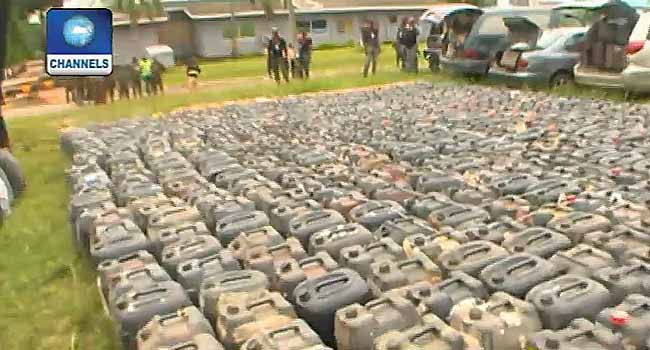Pipeline Vandalism: Over 500 Jerry Cans Of Fuel, Vehicles Recovered
