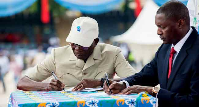 [UPDATED] APC Swears In Oshiomhole As National Chairman