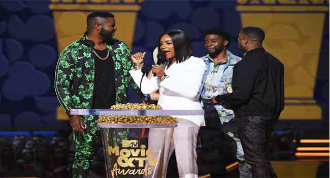 'Black Panther' Star Honours Hero At MTV Awards
