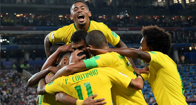 Brazil Top Group E, To Play Mexico In World Cup Last 16