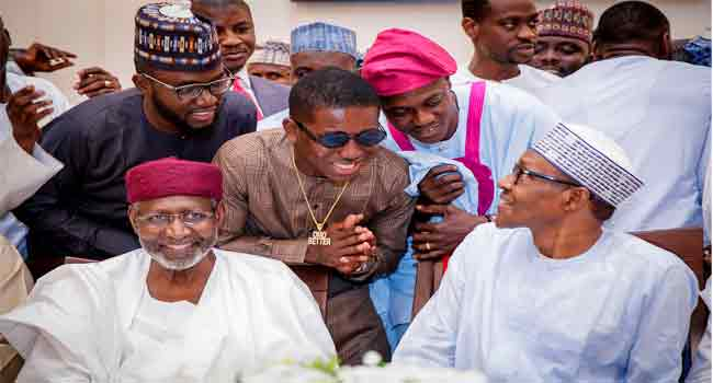 President Buhari Breaks Ramadan Fast With Small Doctor, Sound Sultan, Others