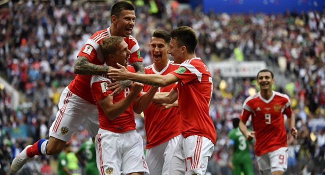 Russia's Gazinsky Scores First Goal Of 2018 World Cup